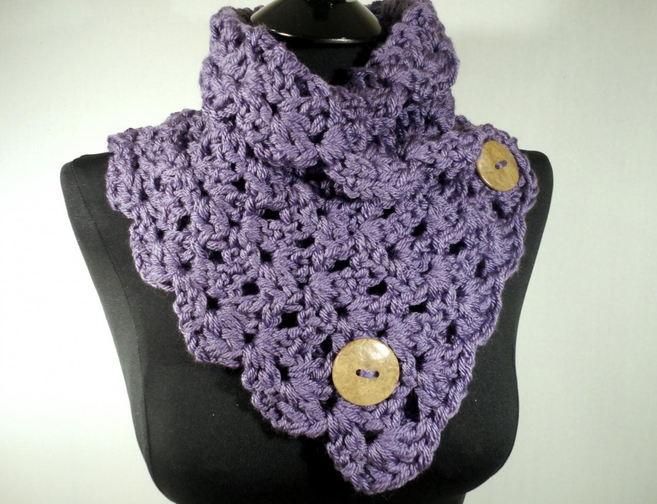 Crochet Scarf Pattern With Button : Crochet Pattern, Crochet Scarf Pattern, Crochet Cowl ...